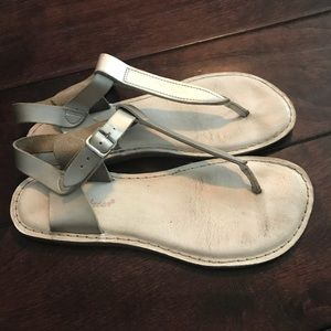 Salt Water Silver Sandals